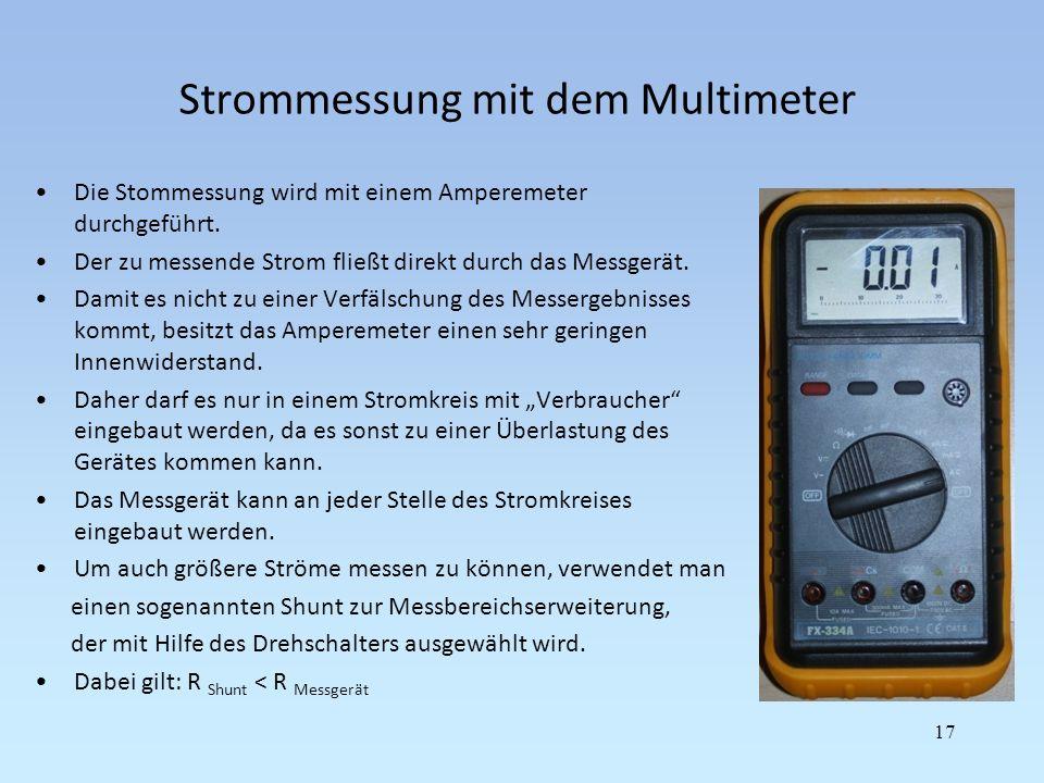 Strommessung mit dem Multimeter
