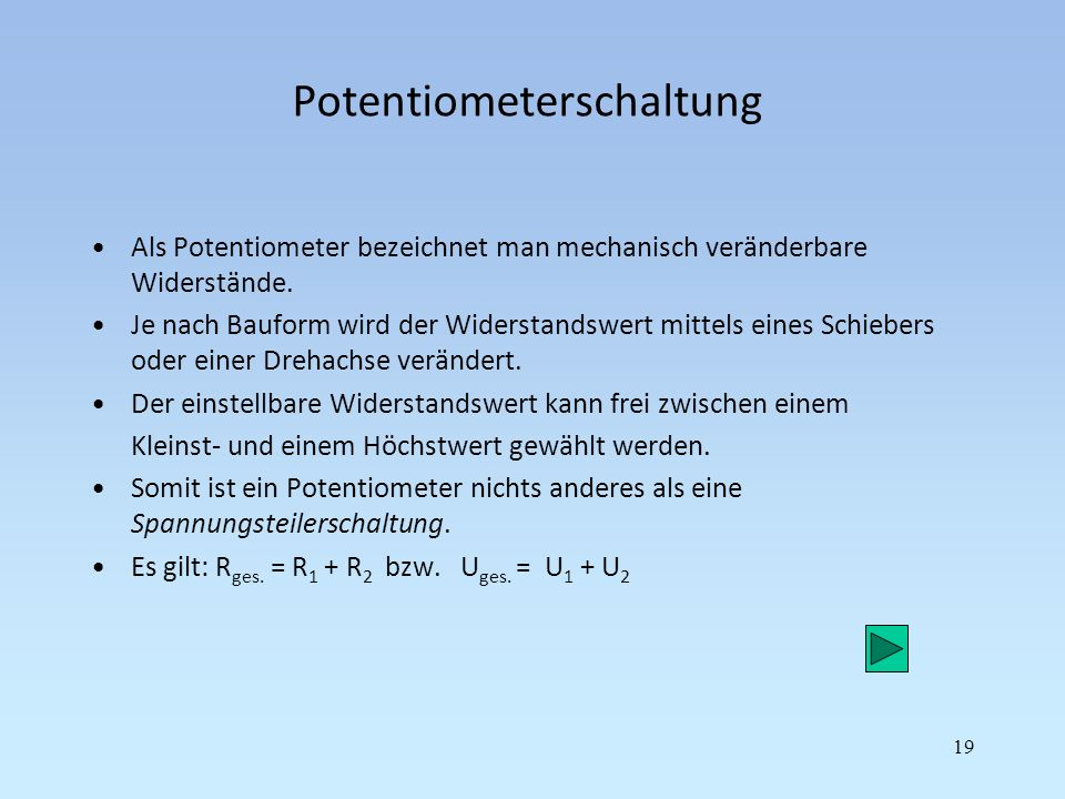 Potentiometerschaltung