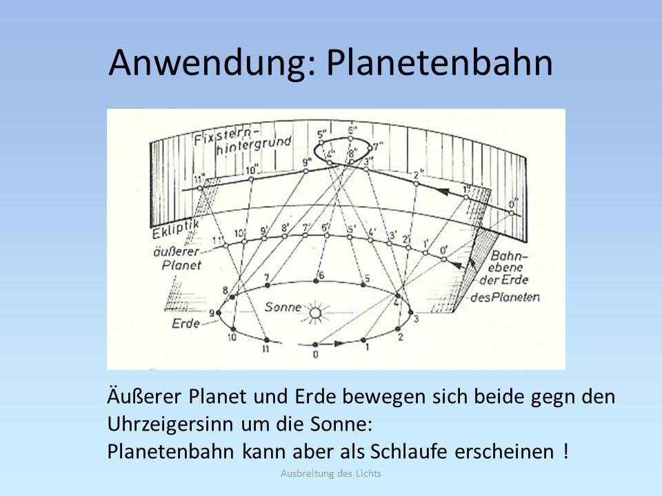Anwendung: Planetenbahn