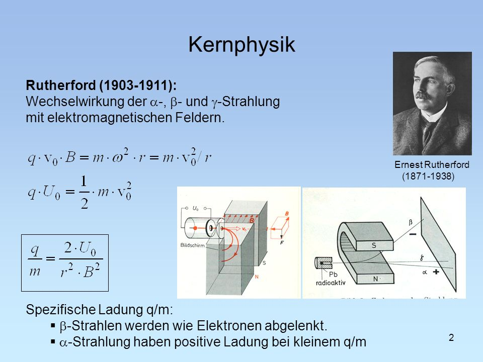 Kernphysik Rutherford (1903-1911):