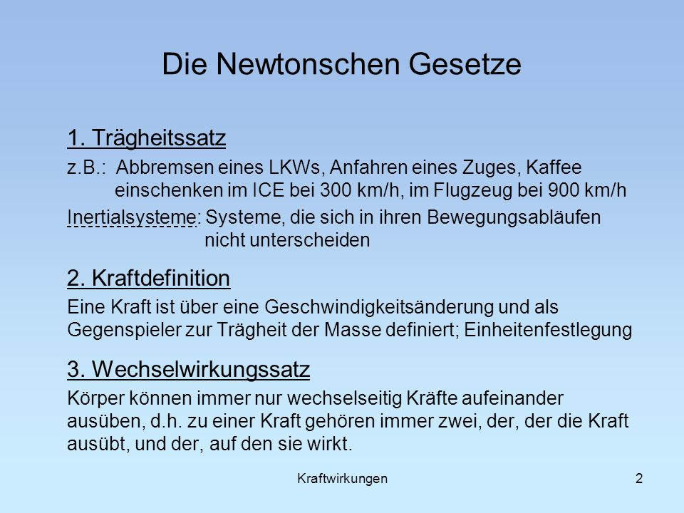 Newtonsche gesetze