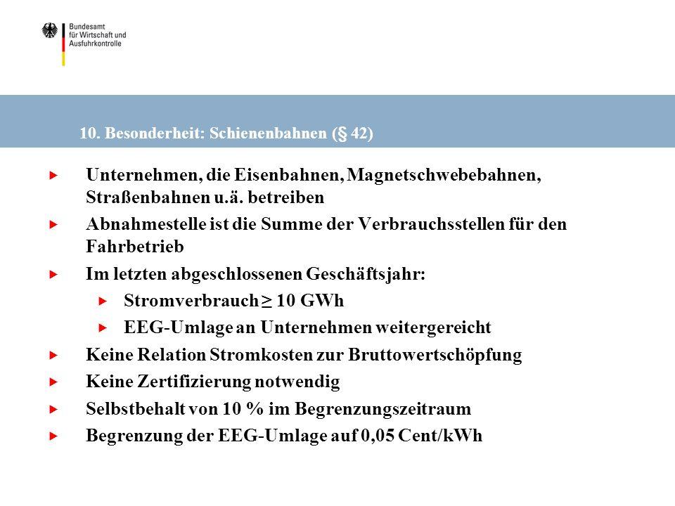 10. Besonderheit: Schienenbahnen (§ 42)
