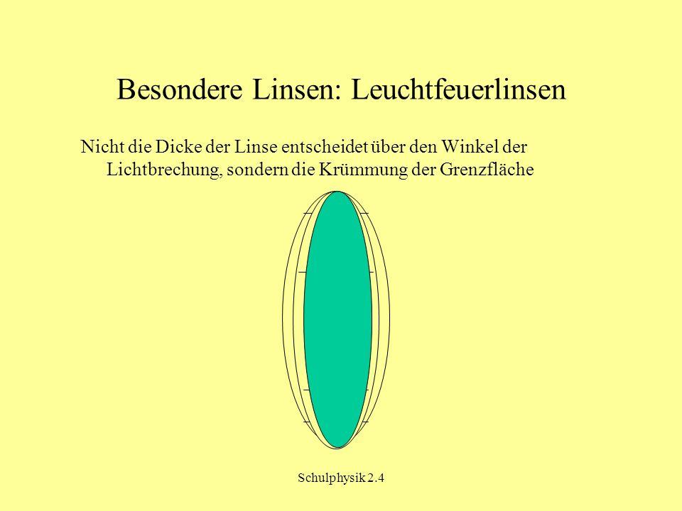 Besondere Linsen: Leuchtfeuerlinsen