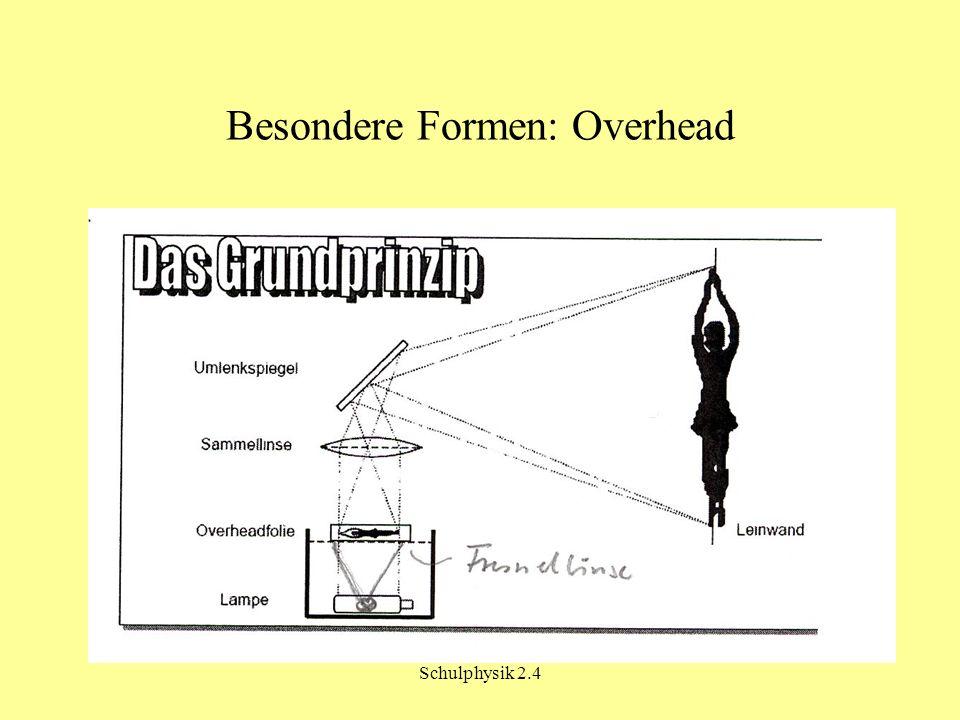 Besondere Formen: Overhead
