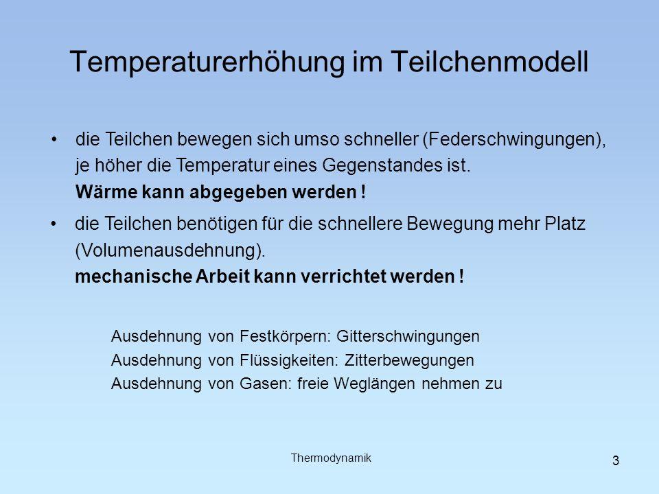 Temperaturerhöhung im Teilchenmodell
