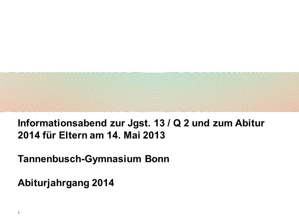 Tannenbusch-Gymnasium Bonn Abiturjahrgang 2014