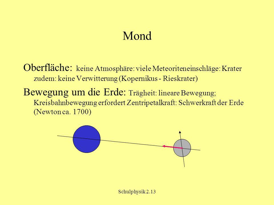 Mond Oberfläche: keine Atmosphäre: viele Meteoriteneinschläge: Krater zudem: keine Verwitterung (Kopernikus - Rieskrater)