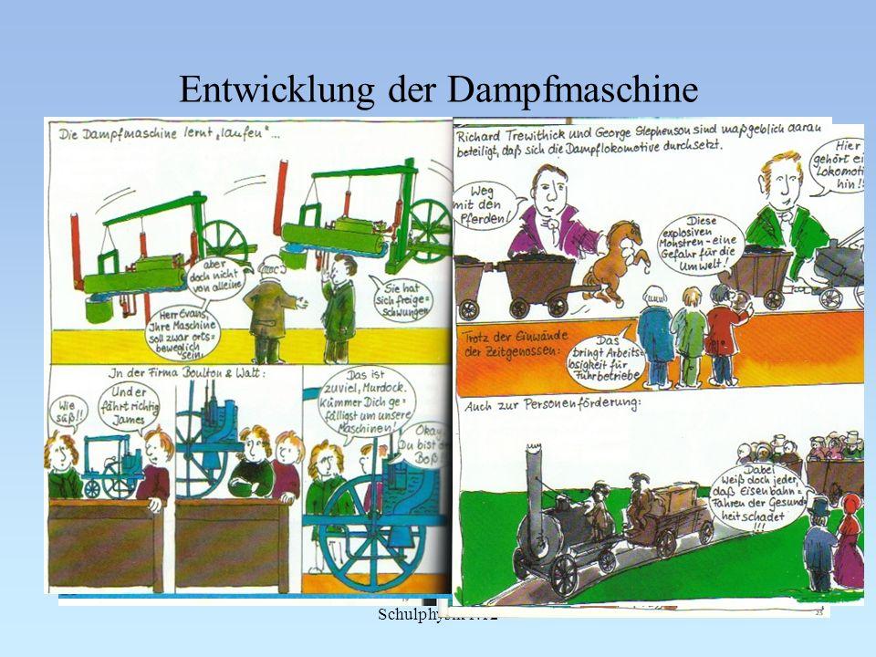 Entwicklung der Dampfmaschine