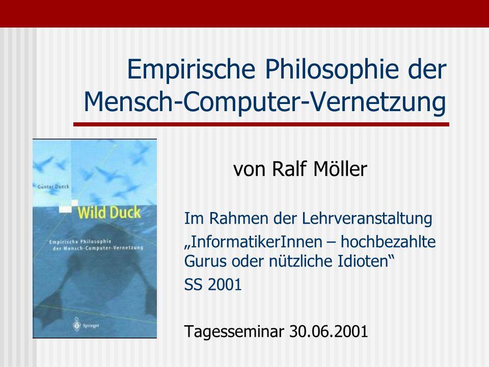 Empirische Philosophie der Mensch-Computer-Vernetzung