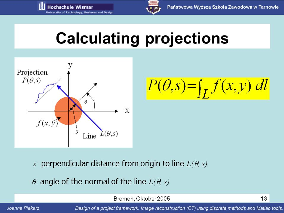 Calculating projections