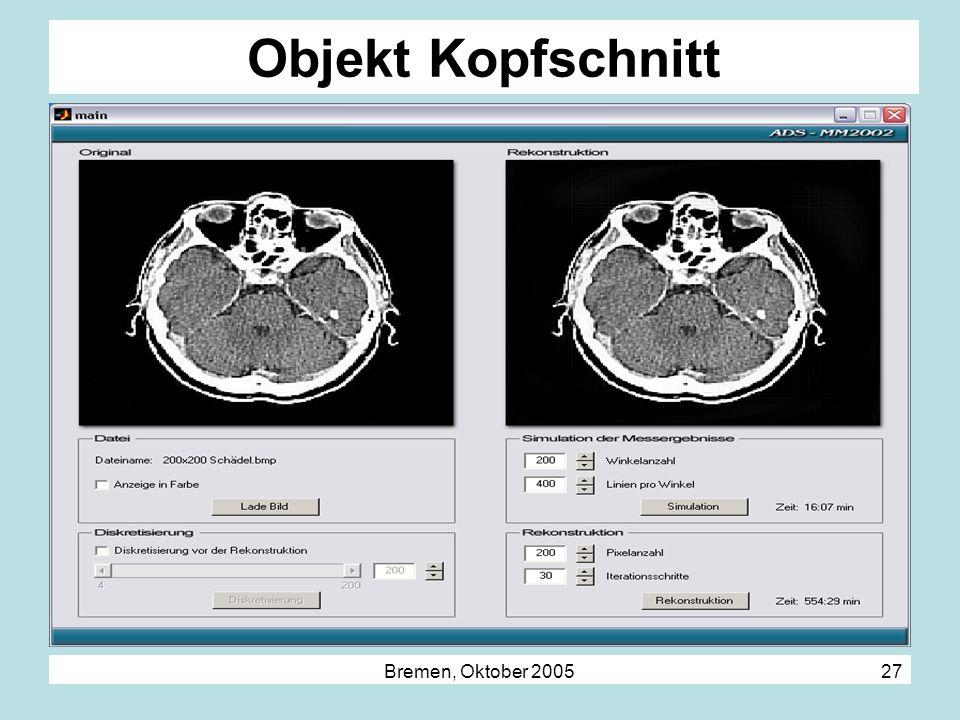 Objekt Kopfschnitt Bremen, Oktober 2005