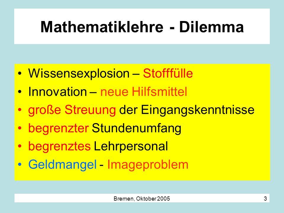 Mathematiklehre - Dilemma
