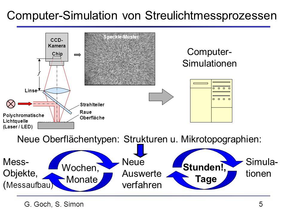 Computer-Simulation von Streulichtmessprozessen