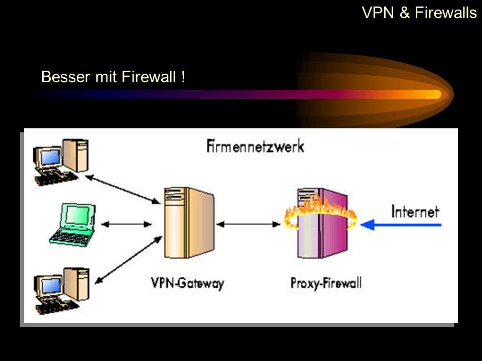 VPN & Firewalls Besser mit Firewall !