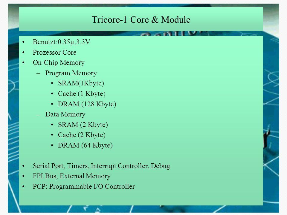 Tricore-1 Core & Module Benutzt:0.35µ,3.3V Prozessor Core