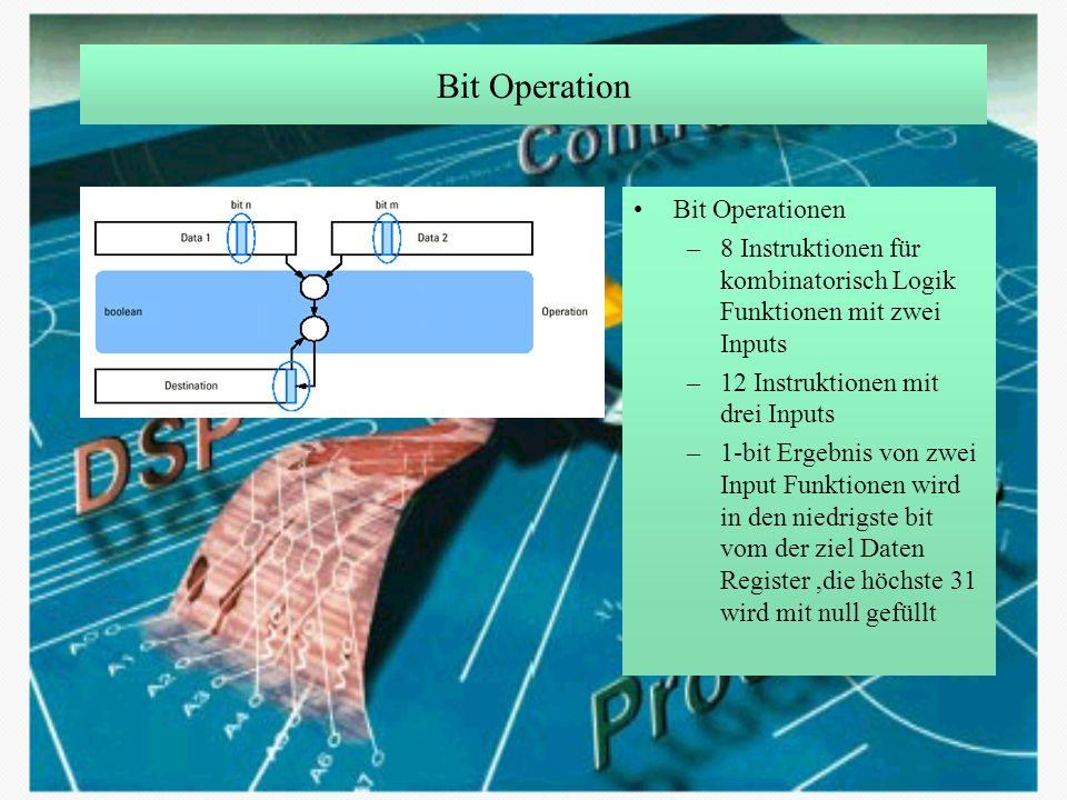 Bit Operation Bit Operationen