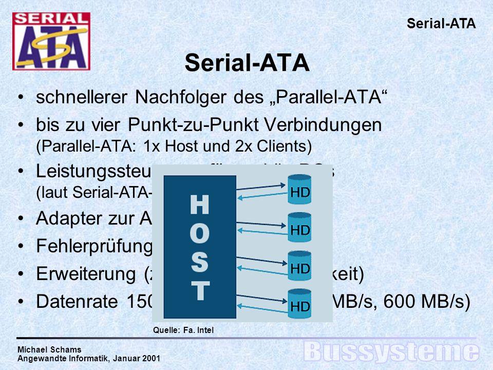 "Serial-ATA schnellerer Nachfolger des ""Parallel-ATA"