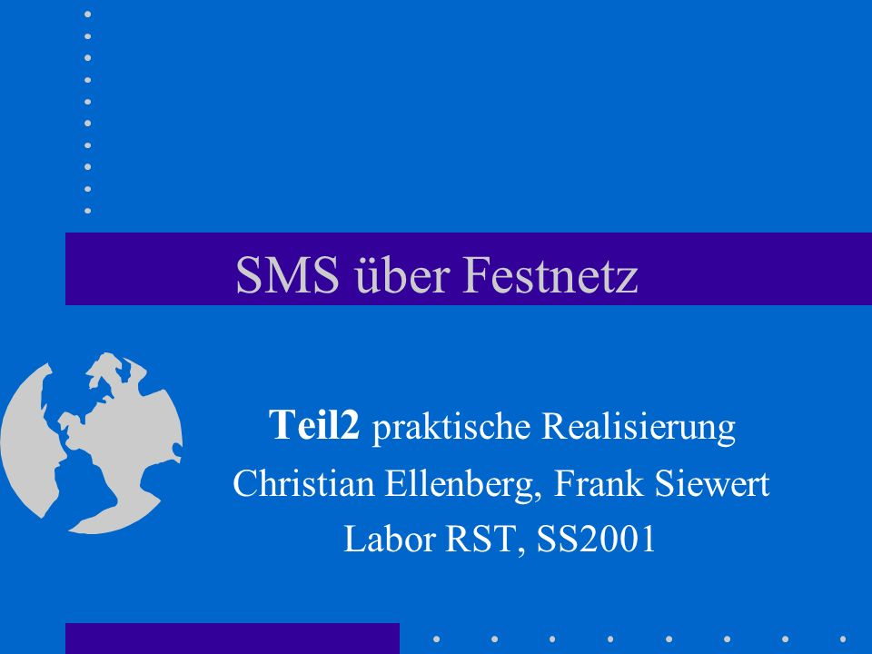 SMS über Festnetz Teil2 praktische Realisierung
