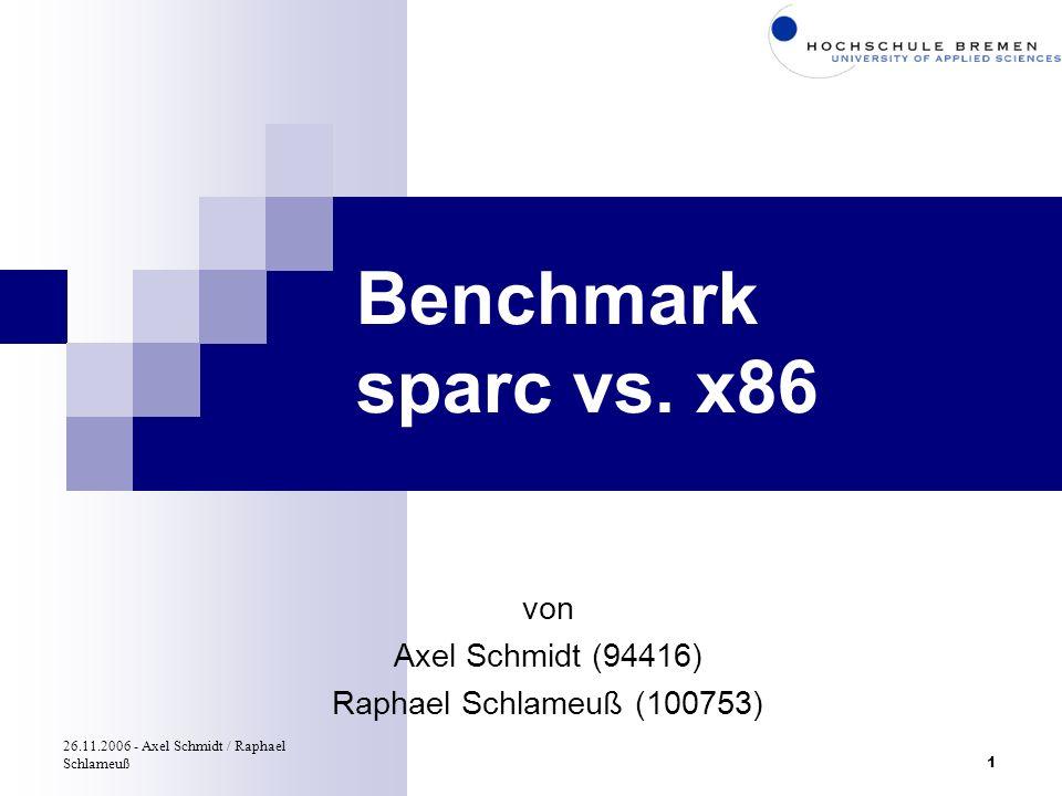 Benchmark sparc vs. x86 von Axel Schmidt (94416)