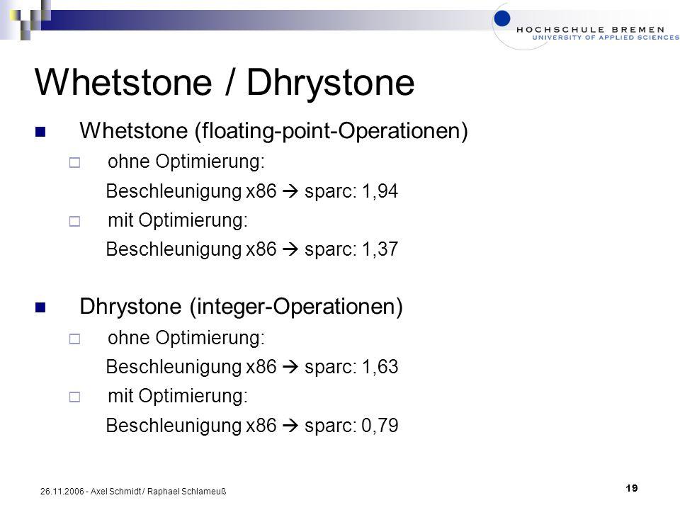 Whetstone / Dhrystone Whetstone (floating-point-Operationen)