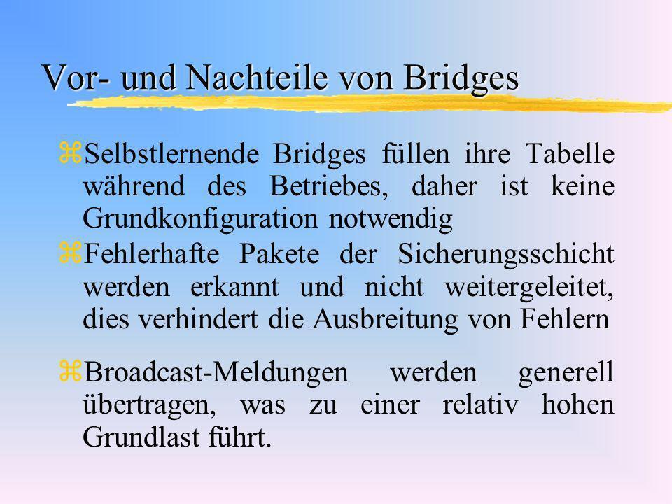 Vor- und Nachteile von Bridges