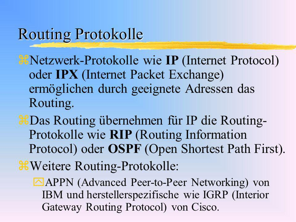 Routing Protokolle