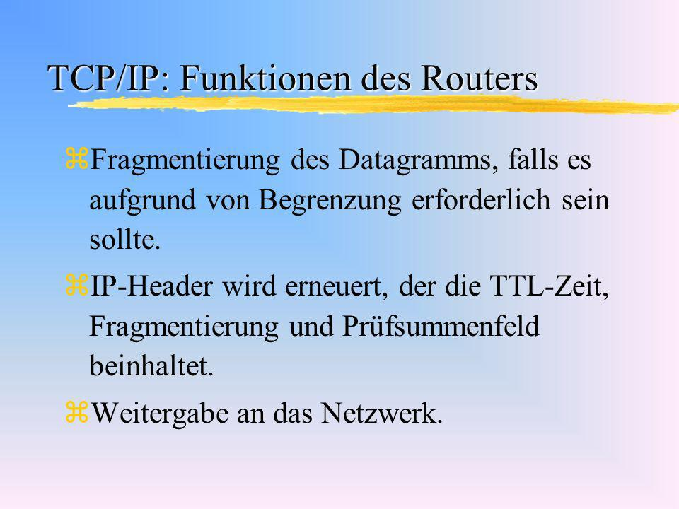 TCP/IP: Funktionen des Routers