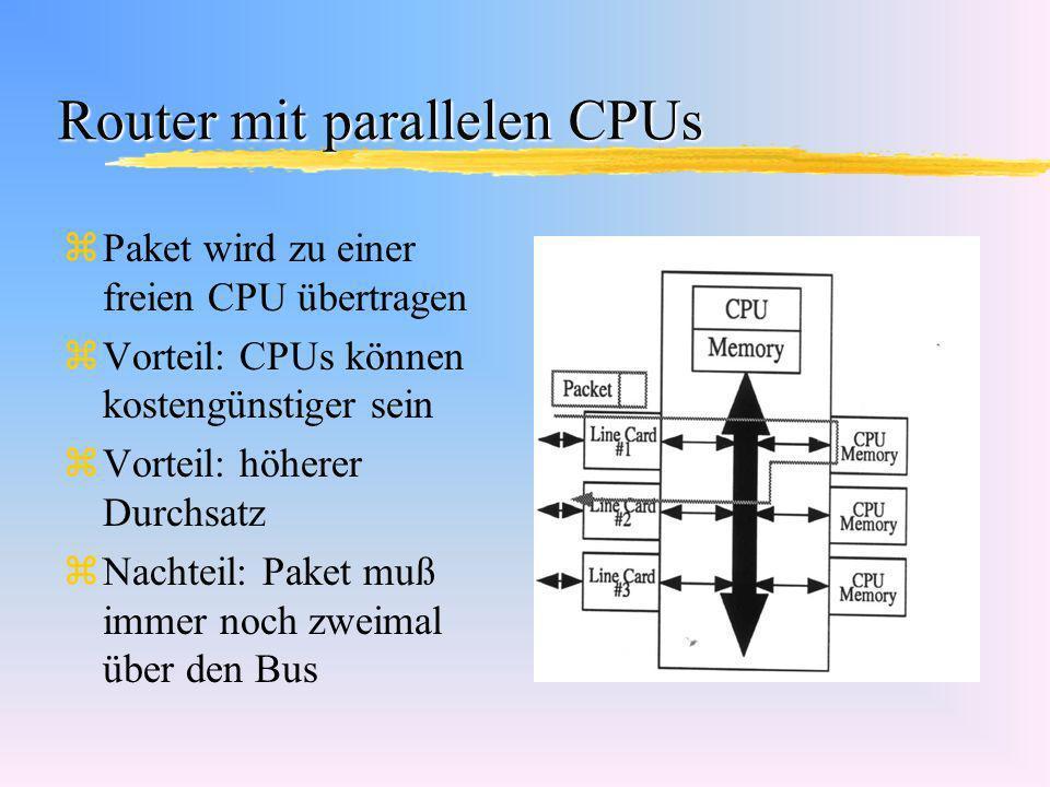 Router mit parallelen CPUs
