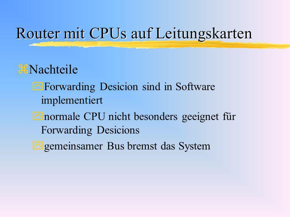Router mit CPUs auf Leitungskarten