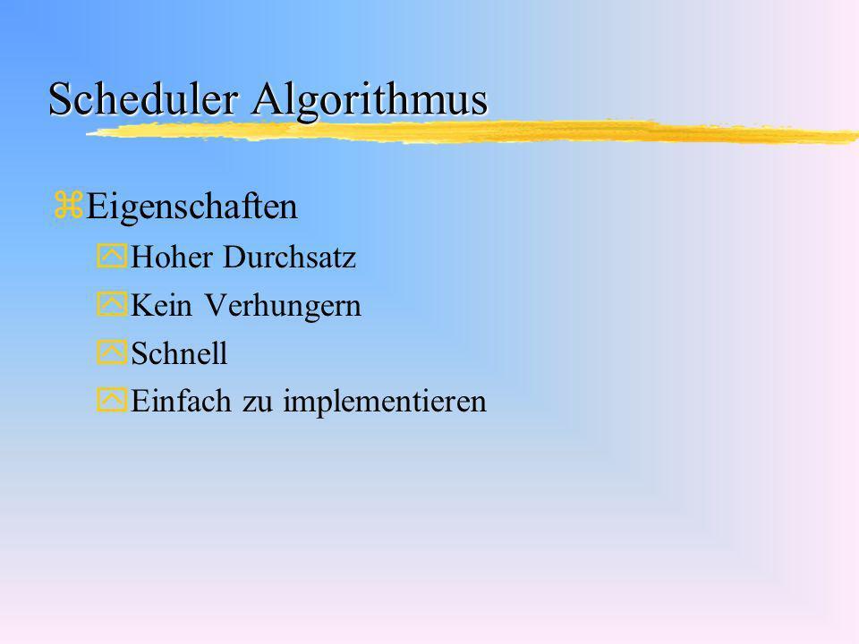 Scheduler Algorithmus