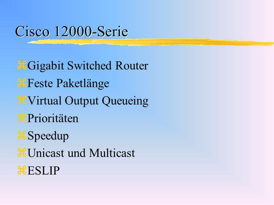 Cisco 12000-Serie Gigabit Switched Router Feste Paketlänge