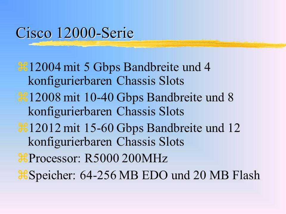 Cisco 12000-Serie 12004 mit 5 Gbps Bandbreite und 4 konfigurierbaren Chassis Slots.