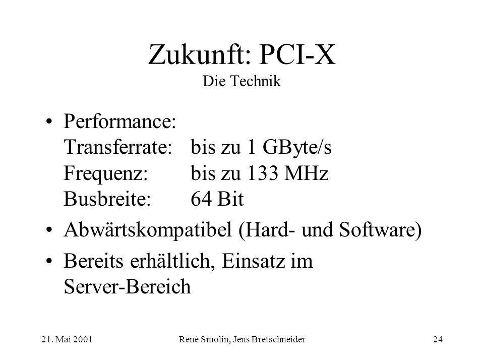 Zukunft: PCI-X Die Technik