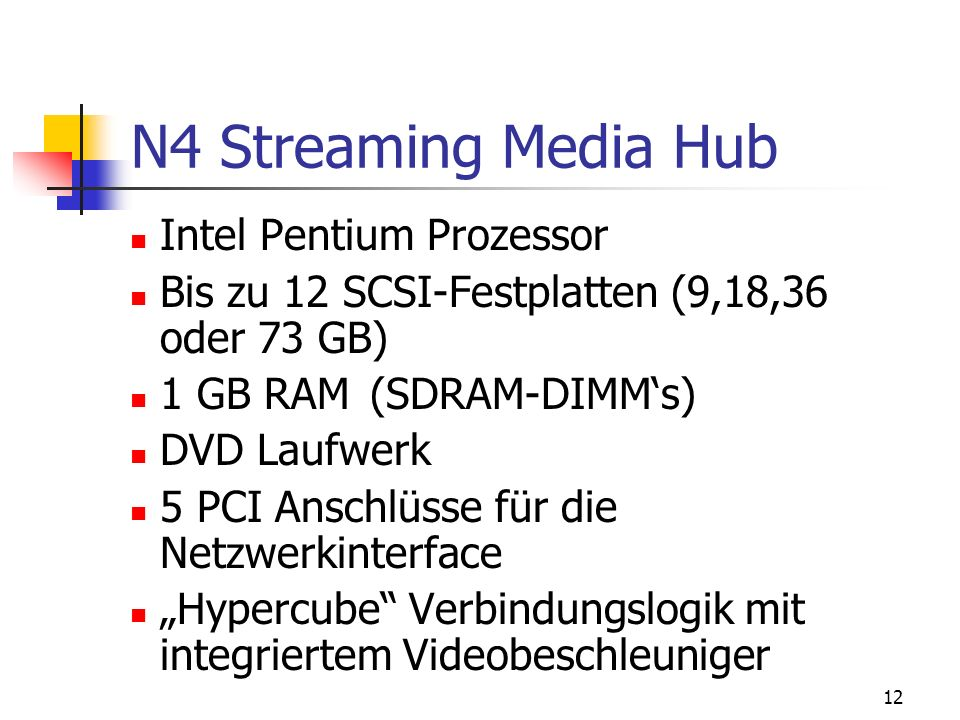 N4 Streaming Media Hub Intel Pentium Prozessor