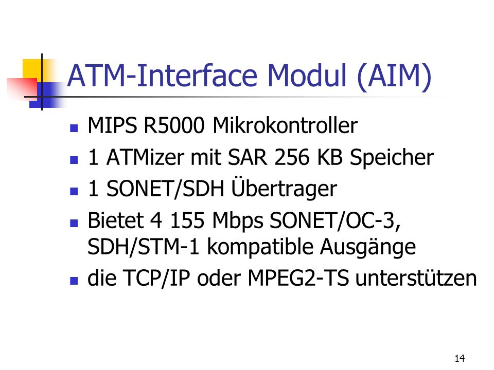 ATM-Interface Modul (AIM)