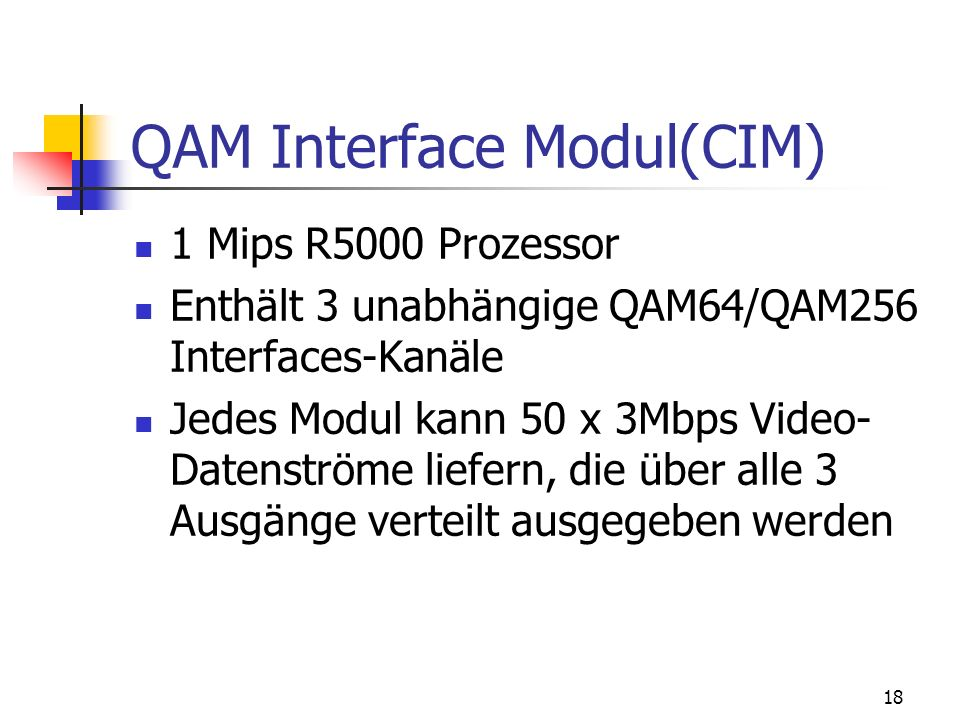 QAM Interface Modul(CIM)