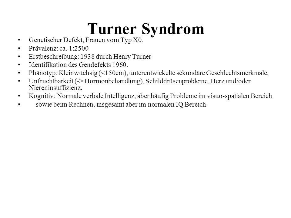 Turner Syndrom Genetischer Defekt, Frauen vom Typ X0.