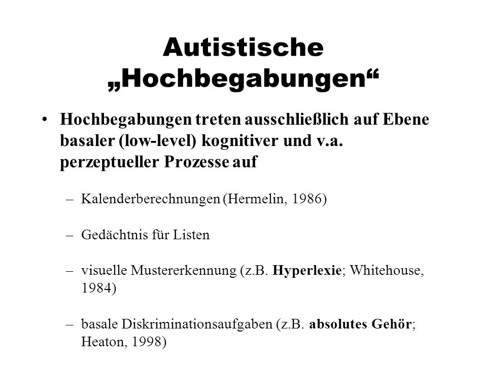"""Autistische """"Hochbegabungen"""