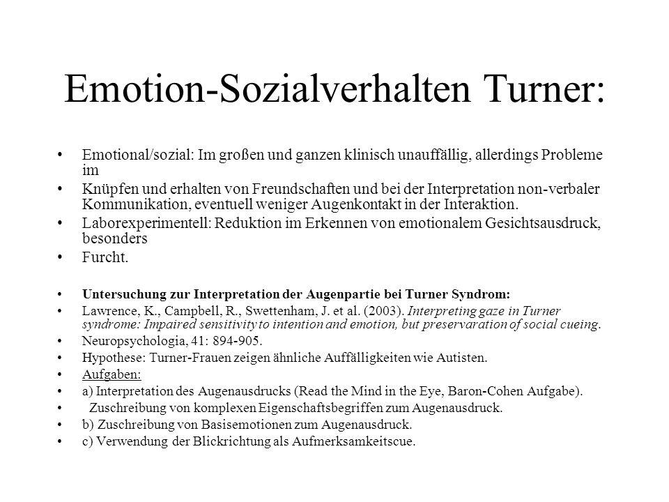 Emotion-Sozialverhalten Turner: