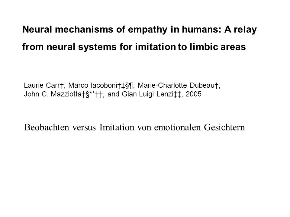 Neural mechanisms of empathy in humans: A relay