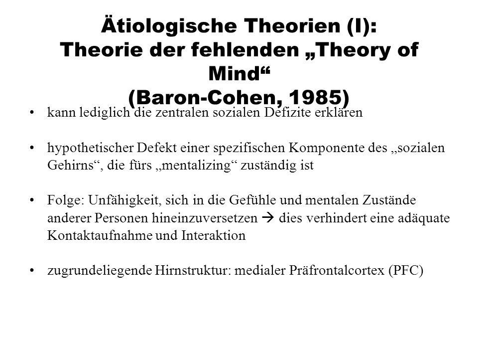 """Ätiologische Theorien (I): Theorie der fehlenden """"Theory of Mind (Baron-Cohen, 1985)"""