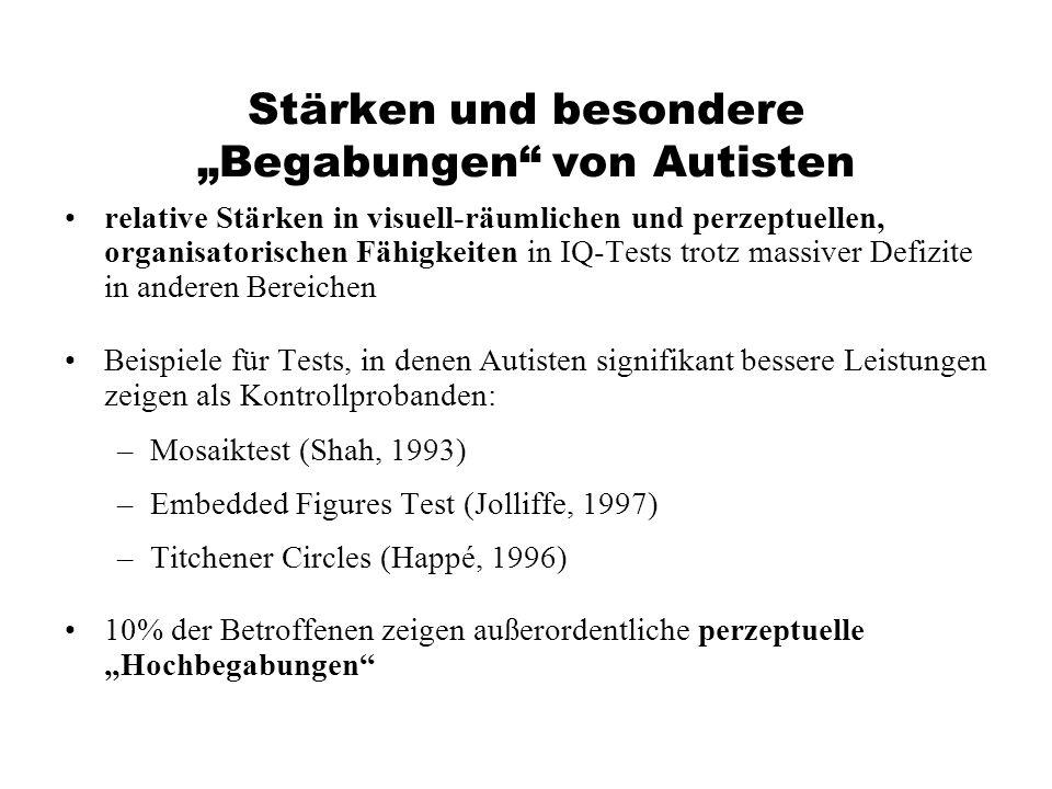 """Stärken und besondere """"Begabungen von Autisten"""