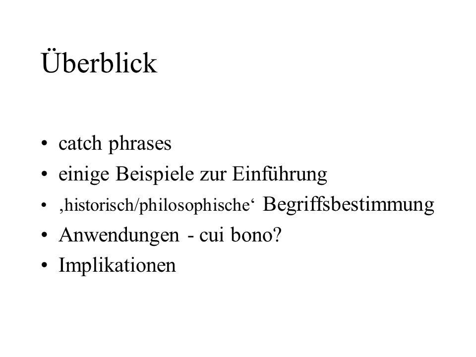 Überblick catch phrases einige Beispiele zur Einführung