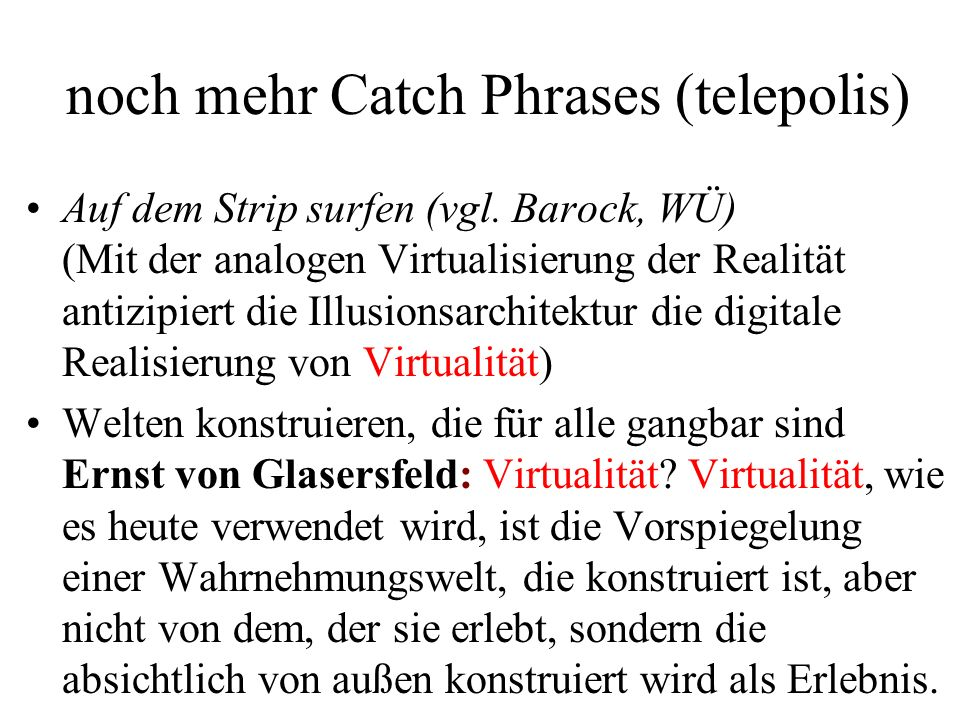 noch mehr Catch Phrases (telepolis)