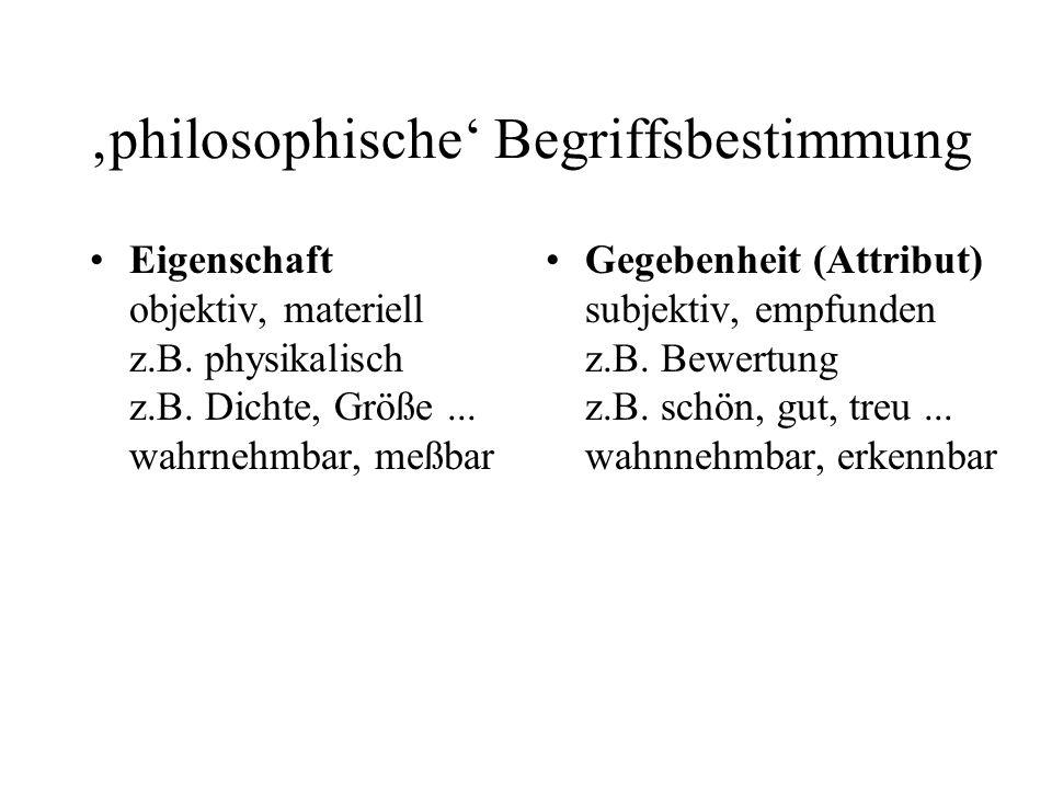 'philosophische' Begriffsbestimmung
