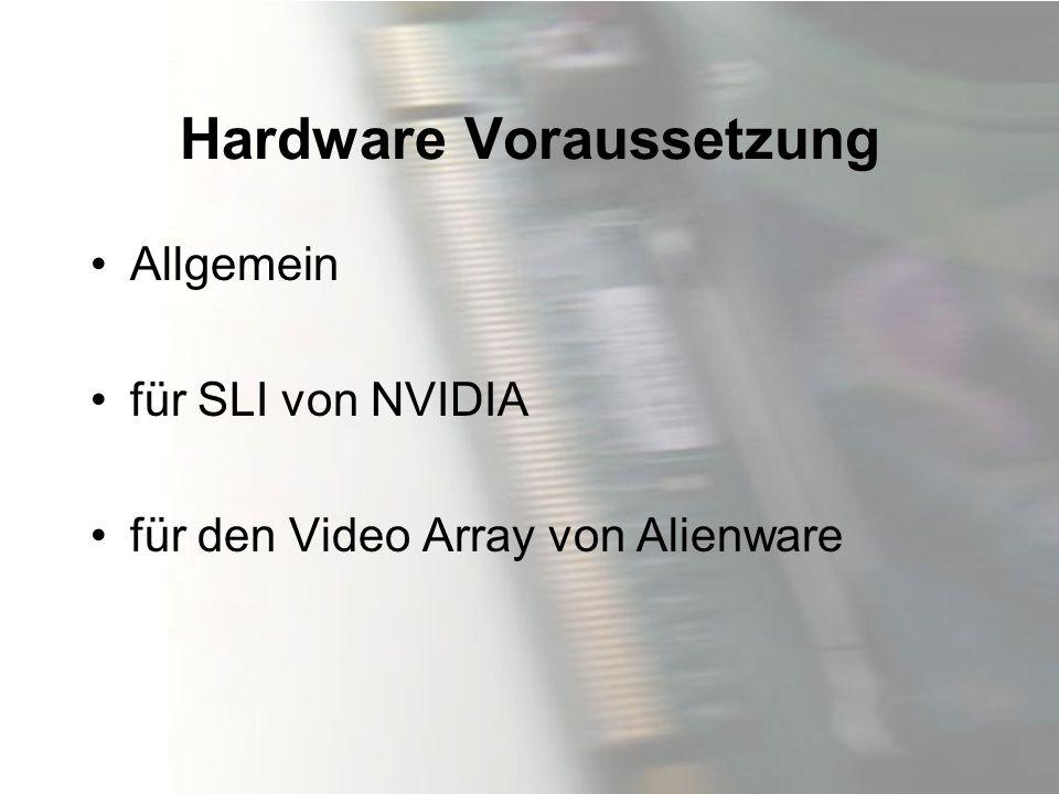 Hardware Voraussetzung