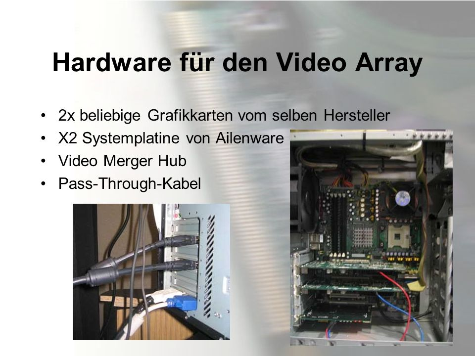 Hardware für den Video Array