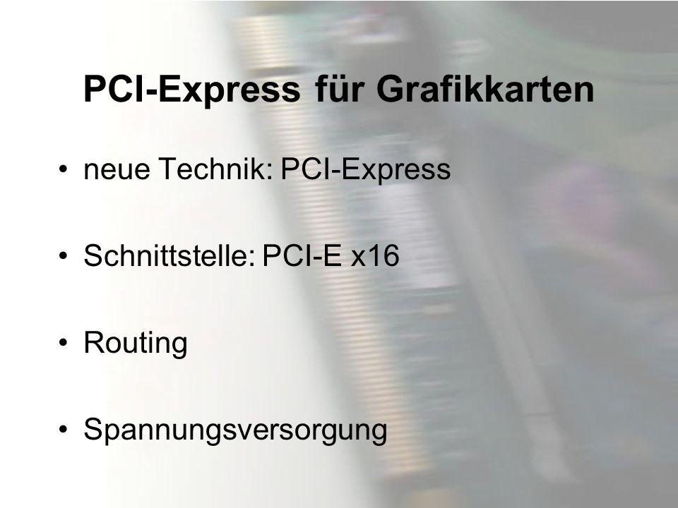 PCI-Express für Grafikkarten