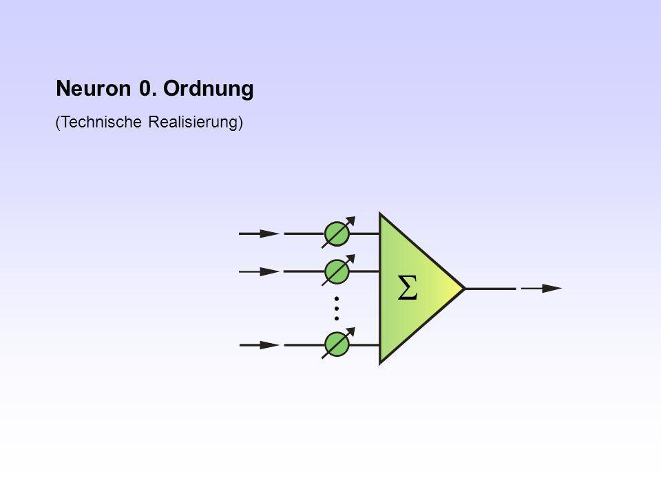 Neuron 0. Ordnung (Technische Realisierung) S