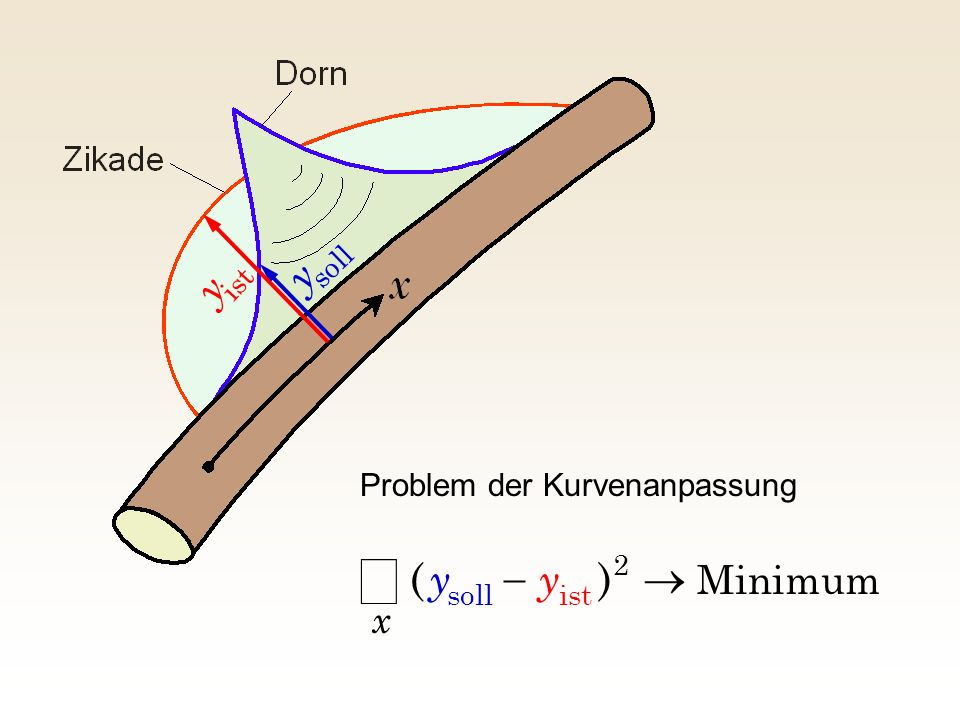 å y y ) ( ® - y Minimum x Problem der Kurvenanpassung soll ist 2 ist